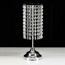 Table Centrepiece .. Acrylic Crystal & Chrome Candle STAND Holder .. Wedding