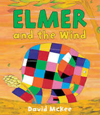 ELMER AND THE WIND David McKee New! TV large pb Childrens Classic Collectable