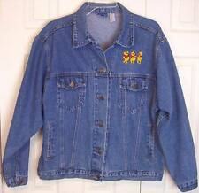 Pre-Owned Disney Winnie the Pooh Denim Jean Jacket Coat, XL