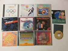 11 Vintage Multimedia Reference CDs Olympic Home Depot Encarta Mayo Clinic