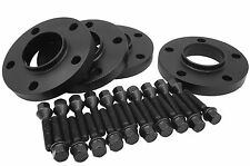 BMW Black Anodized Hub-Centric Wheel Spacers [ 20mm Thick ] W/20 Extended Bolts