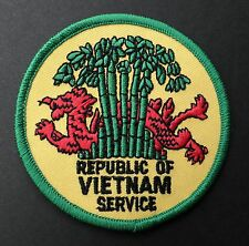 Republic of Vietnam Service Veteran Embroidered Patch 3 1/4 inches