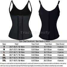 Women Body Shaper Latex Rubber Waist Trainer Cincher Underbust Corset Shapewear@