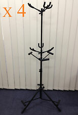 Four (x4) Foldable Haze GS030 Metal-Rubber Structure,Tripod-Stand 6 Guitar Stand
