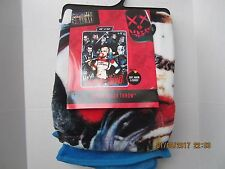 New DC Comics Suicide Squad Harley Quinn & Crew Super Plush Throw Blanket