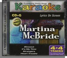 Karaoke CD+G - Martina McBride - New 4 Song CD! Blessed, It's My Time, Strangers
