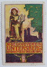 Poster Stamp / Cinderella - Singing Club, Untersberg Munich Germany Founded 1874