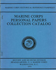 Marine Corps Personal Papers Collection Catalog USMC reference pamphlet 1974