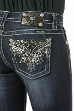 MISS ME SIZE 30 GLITTER HOUR BOOT CUT JEANS JP8502BV NWT $109.50