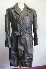 VINTAGE WW2 GERMAN OFFICERS HORSEHIDE LEATHER COAT JACKET SIZE 52