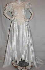 Free Shipping**MON CHERI White LACE FLORAL BEADED BRIDAL GOWN Dress Plus Size 20
