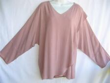 TIENDA HO~Lt. Dusty Rose~MOROCCAN COTTON~Wrap Front Tishka Top~FreeM L XL1X?)