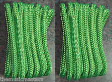 """(2) Green Double Braided 3/8"""" x 15' ft Boat Marine HQ Dock Lines Mooring Ropes"""
