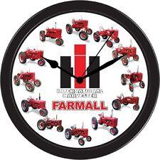 Farmall International Harvester Tractor Farm Clock A B C H M Super AV HV MV Wall