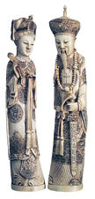 "11.5"" Chinese Emperor and Empress Sculptures Statues Reproduction Replica"