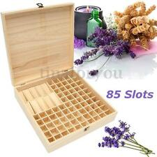 85 Slot Aromatherapy Essential Oil Bottle Wooden Box Organizer Wood Storage Case