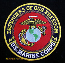 US MARINES DEFENDERS OF FREEDOM USMC SEAL LOGO EAGLE GLOBE ANCHOR HAT PATCH WOW
