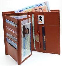 Portefeuille Homme Tout en Un en Cuir Billets Permis Identité Cartes Grise etc