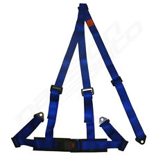 BLUE 3 POINT RACING SEAT BELT HARNESS FOR CAR/TRACK DAY/OFF ROAD BUGGY NEW