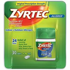 Zyrtec Allergy 10 Mg 24 Hr Relief Of Allergy - 30 Tablets Each