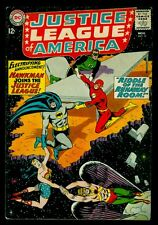 DC Comics JUSTICE LEAGUE of AMERICA #31 Hawkman Joins The JLA FN- 5.5