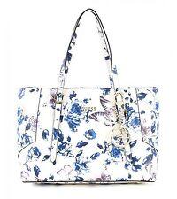 GUESS Isabeau E / W Tote Tasche Schultertasche Damen Blau Beige Ivory / Blue Neu