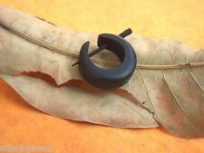 Tibetan Handmade Craft Black Wooden Tribal Boho Wood Stick Hoop SINGLE Earring