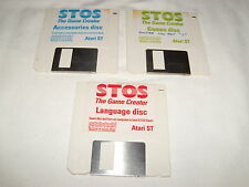 STOS The Game Creator: Language disc, Accessories disc and Game disc  - Atari ST