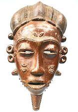 Art Africain - Véritable Masque Baoulé - Sculpture Eblouissante - 34 Cms +++++++
