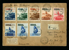 Italy Somalia 1934 Registered Airmail to USA 1934 Pictorial Issue RARE