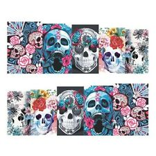 Full Wrap Nail Art Water Transfers Stickers Halloween Skulls Flowers (DS450)