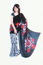 Sari Saree Bollywood Indien Salwar Kameez Hochzeit Kleid  Wickel Stoff