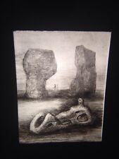"Henry Moore ""Wood Sculpture, Red Rocks"" British Art 35mm Glass Slide"