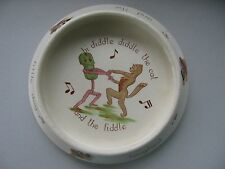 Fantastic Brentleigh Staffordshire Child's Pottery Dish Hi Diddle Nursery Rhyme