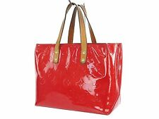 Authentic LOUIS VUITTON Reade PM Red Vernis Leather Tote Hand Bag Purse #24773