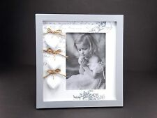 Grey & White Wooden Large Photo Frame (picture size 13x18 cm) Home Decoration