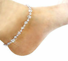 New Fancy Design anklet (payal) in SILVER COLER WITH WHITE STONE