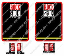Rockshox JUDY DH SL Fork Decals Replacement Stickers Vintage Retro Fork Stickers