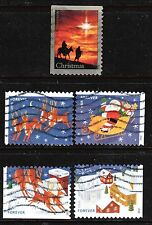 Scott #4712-15 Used Set of 4 Santa and Sleigh