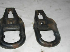 OEM 1997 Ford F150 Expedition Set of Frame Mounted Cast Iron Tow Hooks LH RH