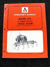 ALLIS CHALMERS MODEL 610 3 POINT HITCH CHI PLOWS OPERATOR MANUAL JEOFFROY MFG CO