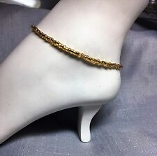 Beaded Simple Minimalist Glass Gold Seed Bead Anklet Foot Jewelry Bracelet #205