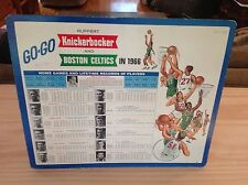 1965-66 Boston Celtics NBA/Knickerbocker Beer Advertising Piece Russell/Auerbach