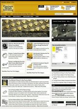 PRECIOUS METALS INVESTING WEBSITE BUSINESS FOR SALE! with TARGETED SEO CONTENT