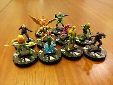 Heroclix Trinity War Complete 10 Figure Gravity Feed Counter Top CTD Set 201-210