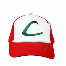 Pokemon Ash Ketchum Red Hat Cap Trainer Cosplay Fancy Hip-Hop Halloween Costume