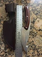 BUCK ALPHA HUNTER 1 of 500 ZIPPER KNIFE BOS ATS-34 U.S.A. BLADE + SHEATH