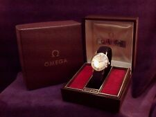 NEW IN BOXES~Solid 14K Gold~33mm~1975 Omega 17J Cal. 625 Swiss Mens Strap Watch