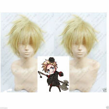 Hetalia Axis Powers Denmark Blonde Cosplay Wig