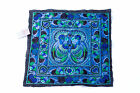 Blue Bird Embroidered Fabric Hmong Fashion Style From Thailand